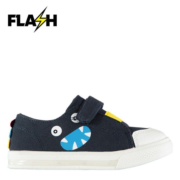 Fabric Flash Canvas Trainers Infants