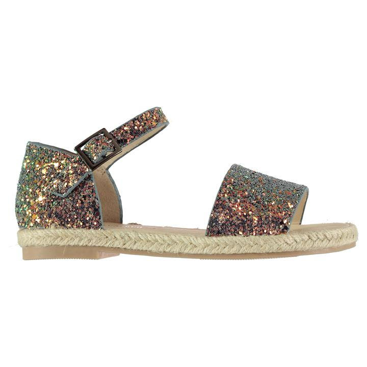 SoulCal Espadrille Glitter Child Girls Sandals