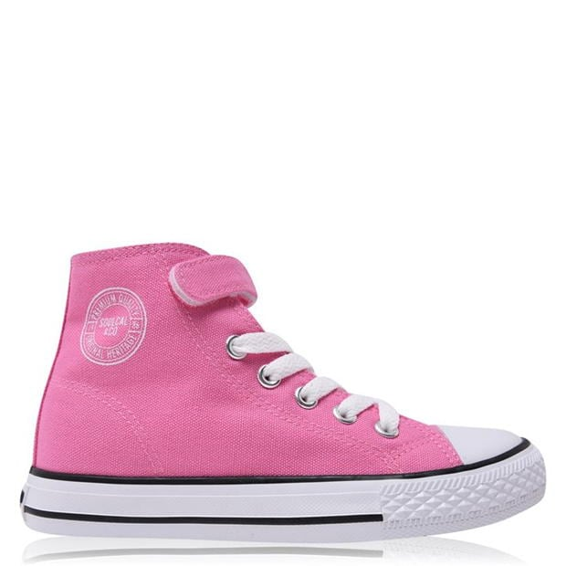 SoulCal Canvas Hi Top Trainers Childrens