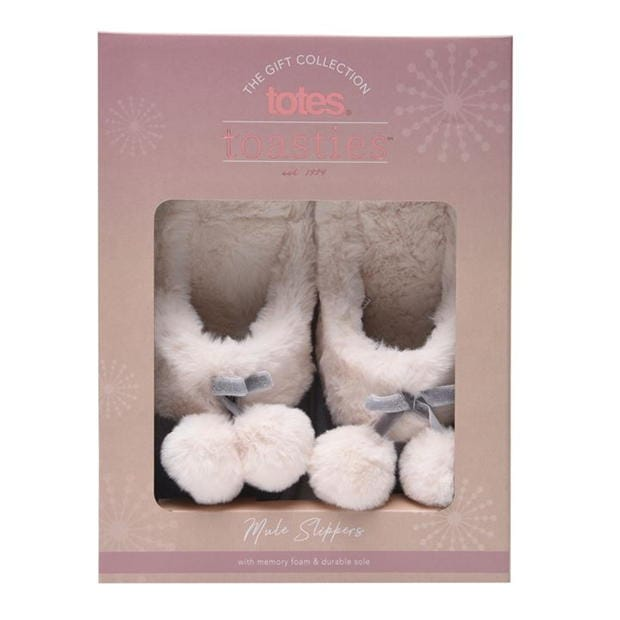 Totes Cord Mule Slippers