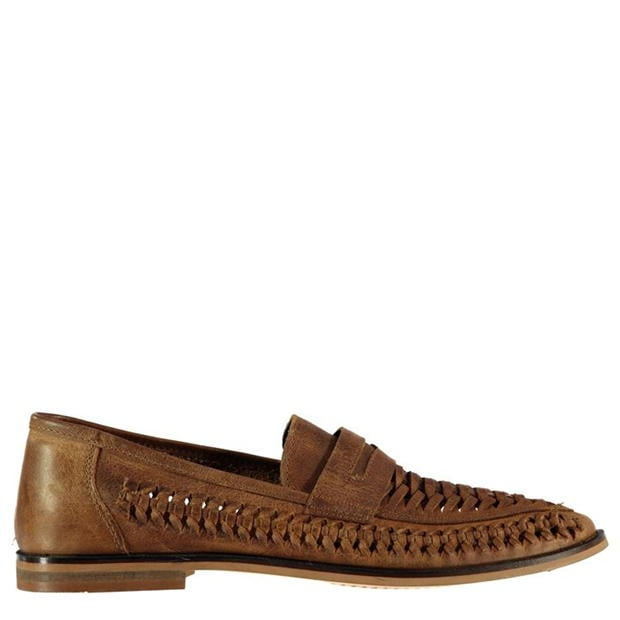 Firetrap Marrone Woven Mens Loafers
