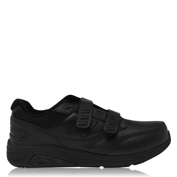 New Balance Hook and Loop Mens Leather Trainers