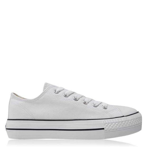 SoulCal Canvas Low Trainers Ladies