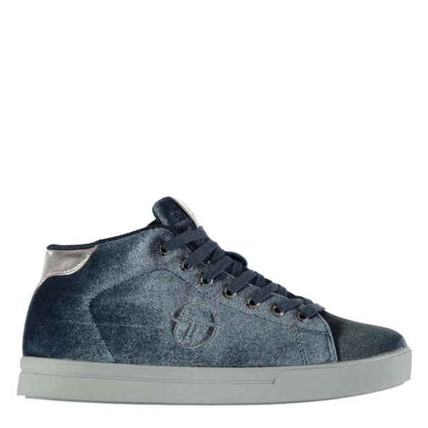 Sergio Tacchini Ladies Velvet High Top Trainers