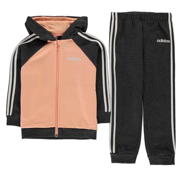 adidas 3 Stripe Tracksuit Infant Girls