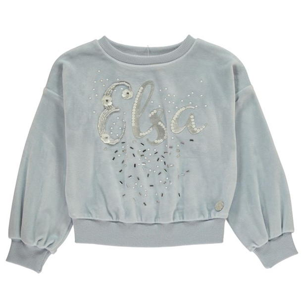 Character Frozen 2 Velour Crew Jumper Childrens