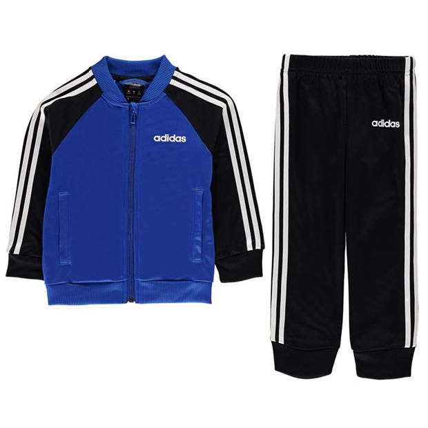 adidas 3 Stripe Poly Tracksuit Infant Boys