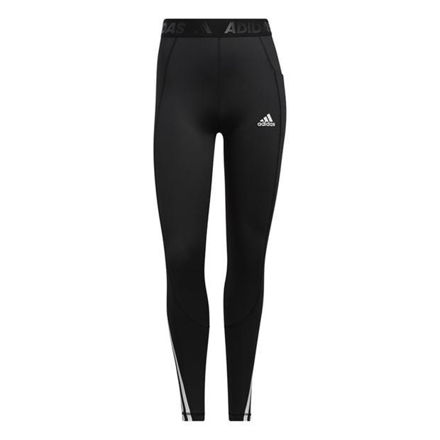 adidas Alphaskin 3 Stripe Tights Ladies