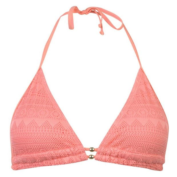 SoulCal Lace Triangle Bikini Top Ladies