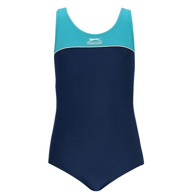Slazenger Racer Back Swimming Suit Junior Girls