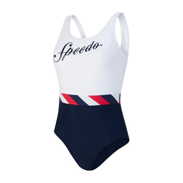 Speedo Heritage Shoreline U Back Swimsuit Ladies
