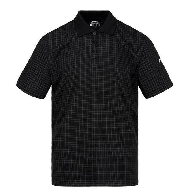 Slazenger Check Golf Polo Mens