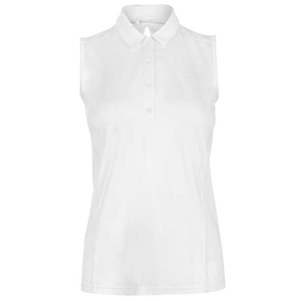 Slazenger Sleeveless Polo Shirt Ladies