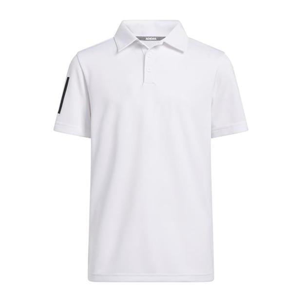 adidas 3 Stripe Polo Shirt Junior Boys