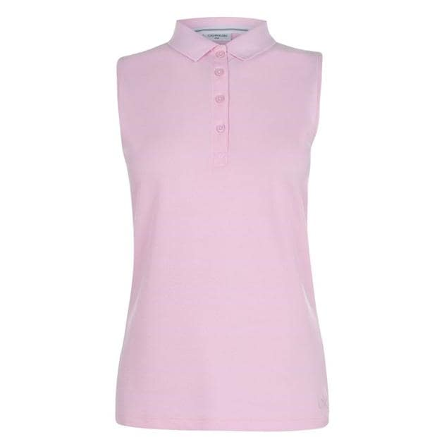 Calvin Klein Golf Sleeveless Cotton Polo Shirt