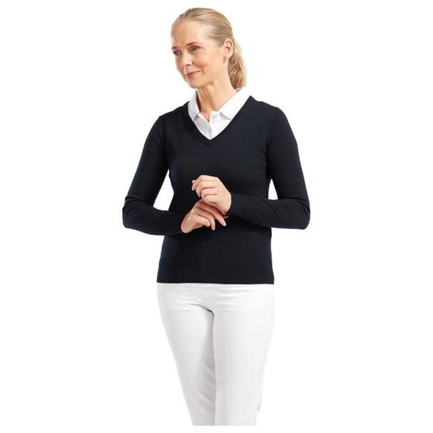 Footjoy Wool V Neck Pullover Ladies