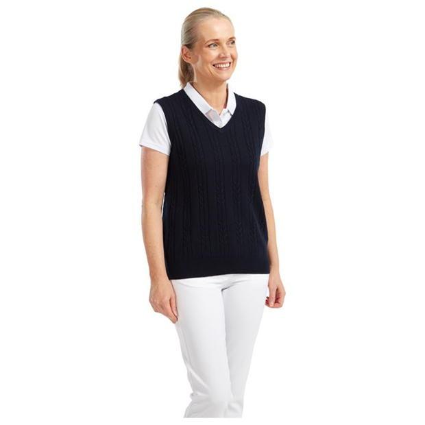 Footjoy Wool V Neck Vest Ladies