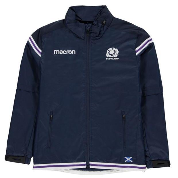 Macron Zip Waterproof Jacket Junior Boys