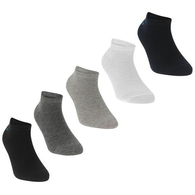 Slazenger 5 Pack Trainers Socks Junior