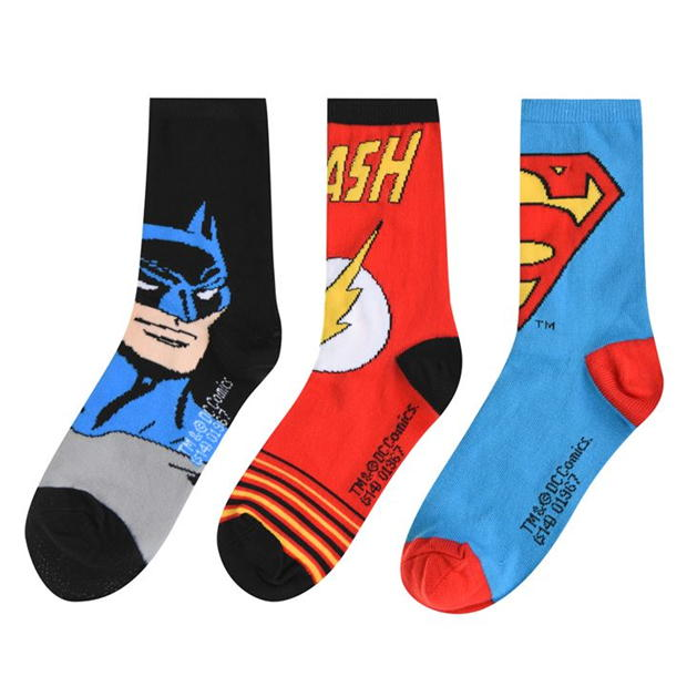 DC Comics Superman 3 Pack Crew Socks Junior