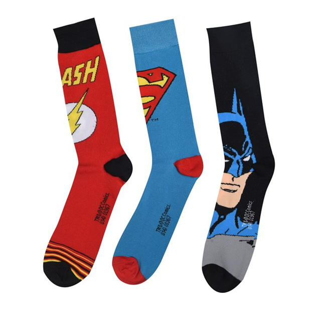 DC Comics 3 pack Crew Sock Mens