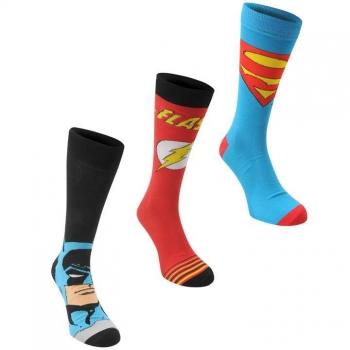 DC Comics Comic 3 pack Crew Sock Mens 7-11