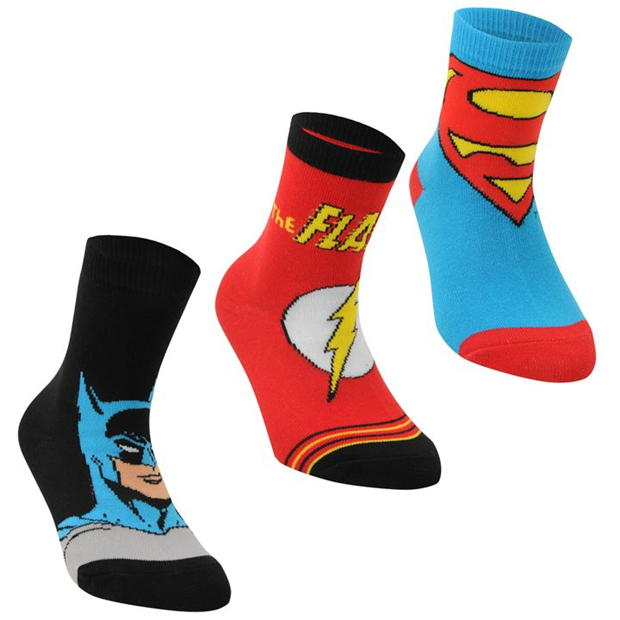 DC Comics Superman 3 Pack Crew Socks Childrens