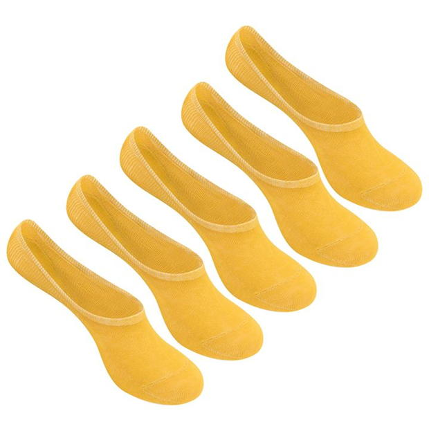 Giorgio 5 Pack Invisible Socks Ladies