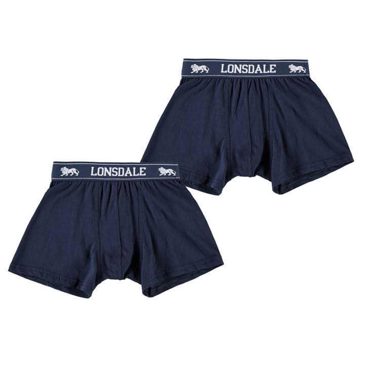Lonsdale 2 Pack Trunk Junior Boys