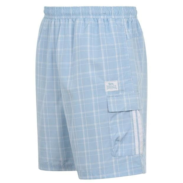 Lonsdale Check Shorts Mens