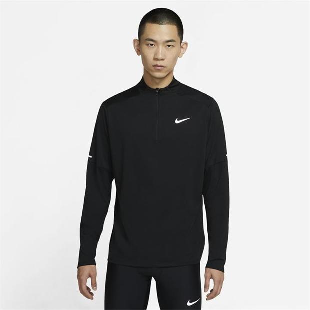 Nike Dri Fit Element Half Zip Long Sleeve Running Top Mens