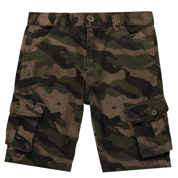 Firetrap Camo Cargo Shorts Junior Boys
