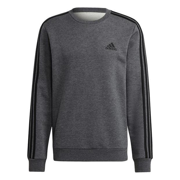 adidas Mens Crew 3-Stripes Pullover Sweatshirt