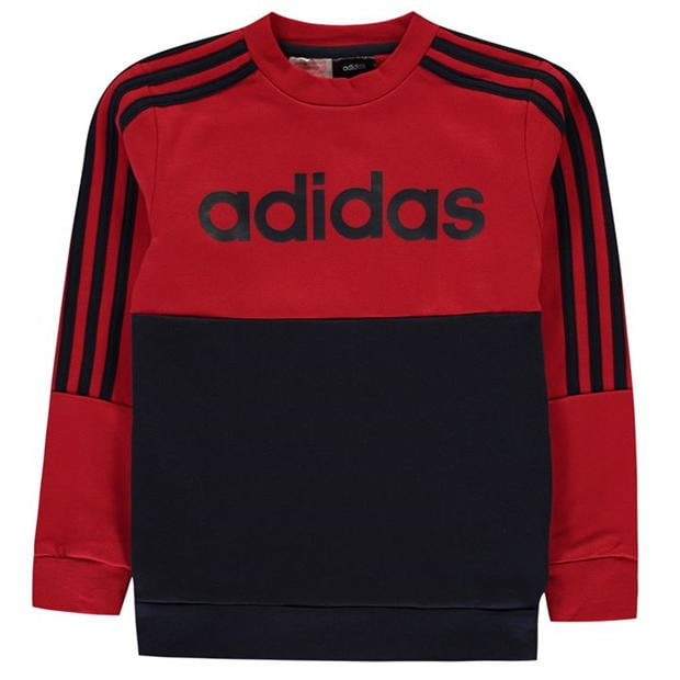 adidas Large Logo Crew Sweatshirt Junior Boys
