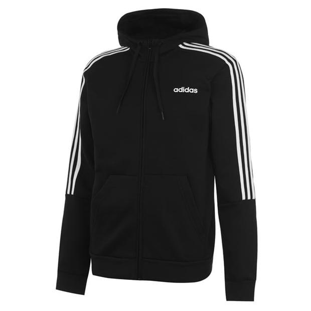 adidas 3 Stripes Zip Through Hoody Mens