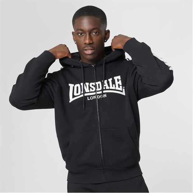 Lonsdale 2 Stripe Zip Hoodie