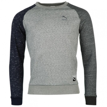 Puma Heather Crew Sweater Mens M