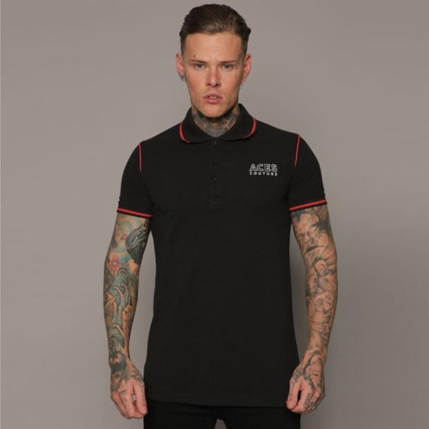 Aces Couture Couture Statement Polo Shirt Mens