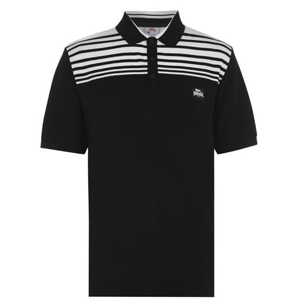 Lonsdale Stripe Polo Mens