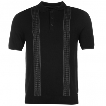 Pierre Cardin Jacquard Knitted Polo Mens (L)