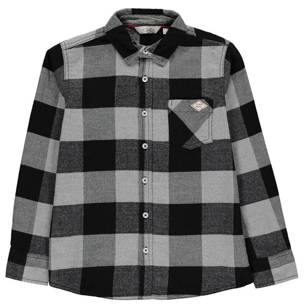 Lee Cooper Check Long Sleeve Shirt Junior Boys