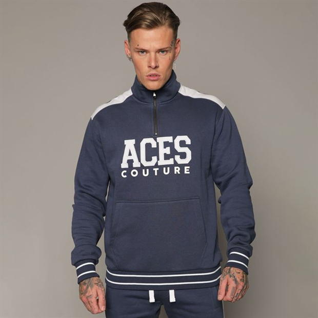 Aces Couture Couture Capital Half Zip Top Mens