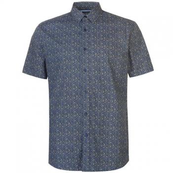 Pierre Cardin Ditsy Short Sleeve Shirt Mens XL