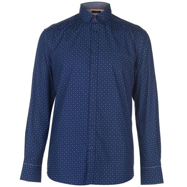 Pierre Cardin Long Sleeve Printed Shirt Mens