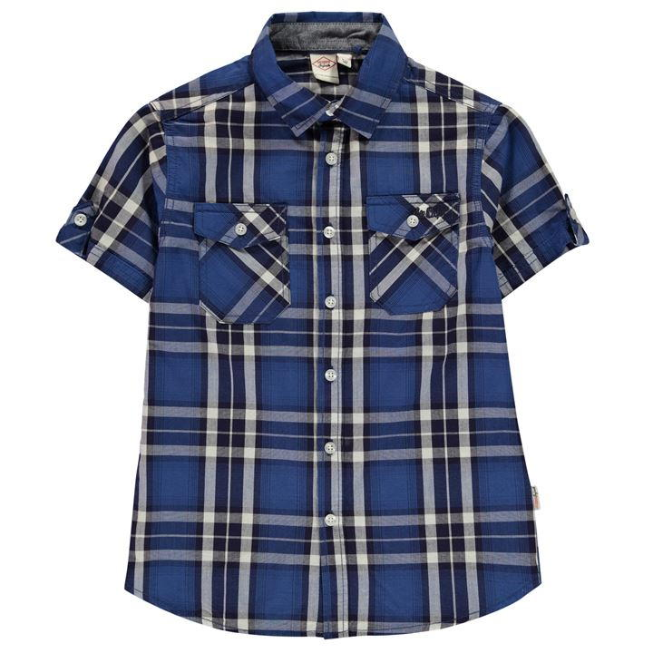 Lee Cooper Short Sleeve Check Shirt Junior Boys