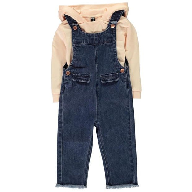 Firetrap Dungarees Two Piece Set Infant Girls