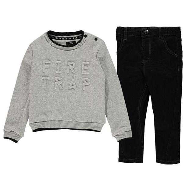 Firetrap 2 Piece Jeans and Jumper Set Baby Boys