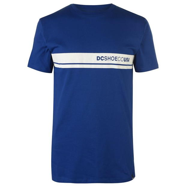 DC Block Colour Short Sleeve T Shirt Mens