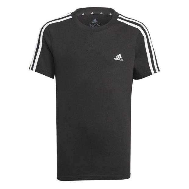 adidas 3 Stripe Essentials T Shirt Junior