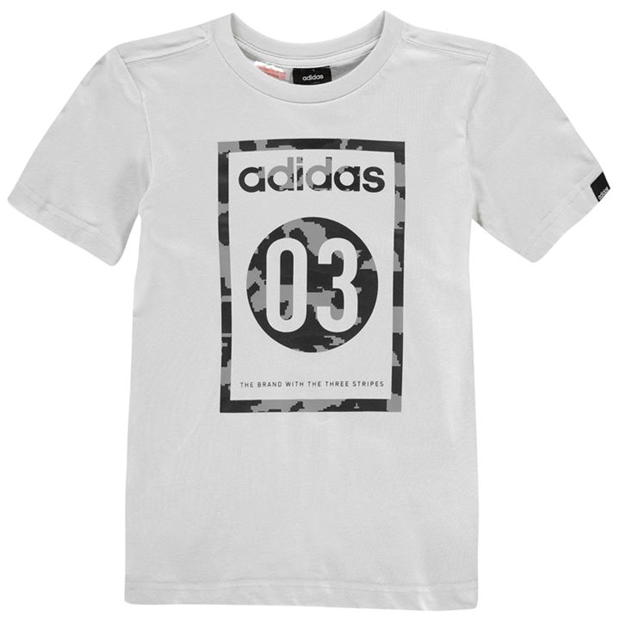 adidas 03 Camo QT T Shirt Junior Boys